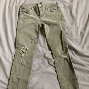 Express Midrise Ankle Legging Jean Distressed